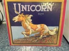 Original Unicorn Orange Crate Label