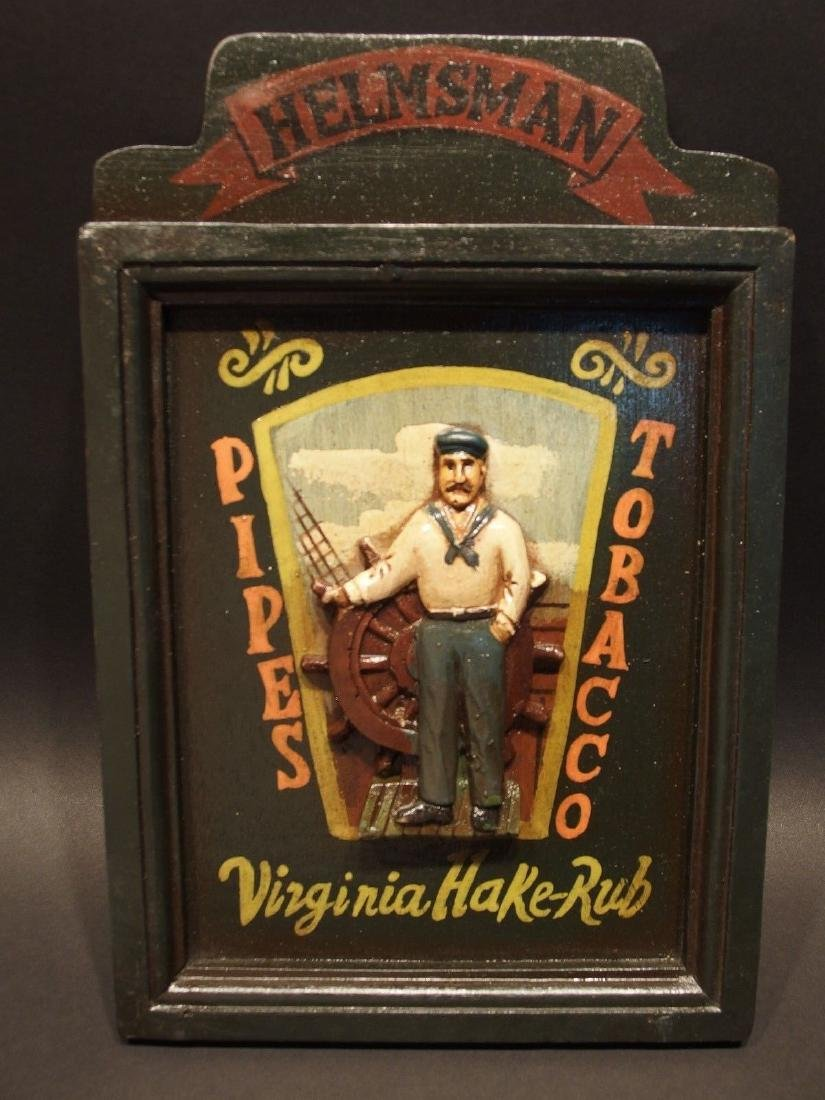 Wood English Pub Tavern Pipes Tobacco Sailor Trade Sign