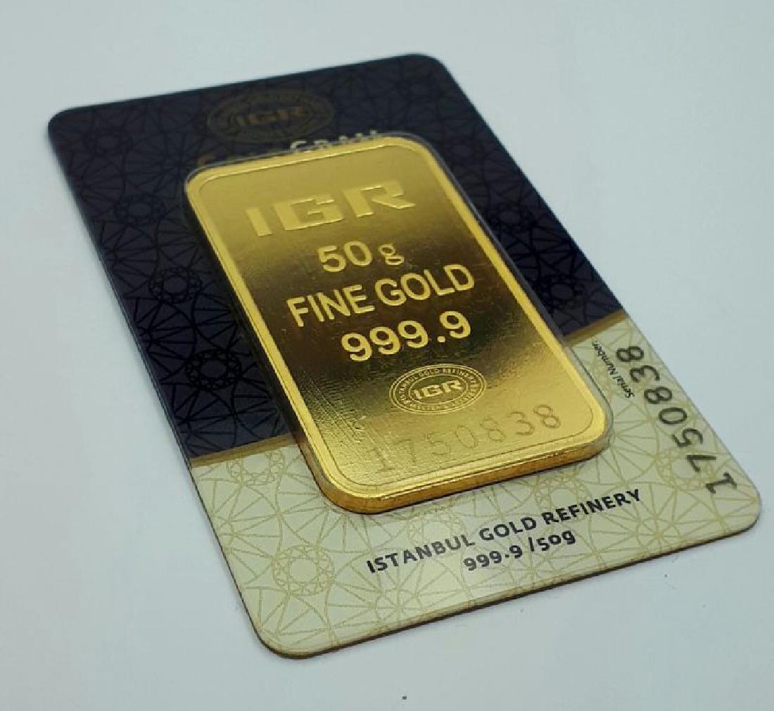 50 gr. - 999/1000 - Minted/ Sealed Gold Bar