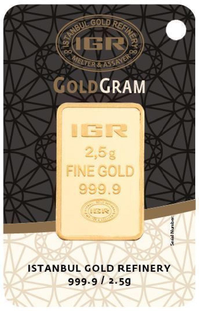 2.5 gr. pendant + 2 gr. chain. -  999/1000 & 585/1000 - 4