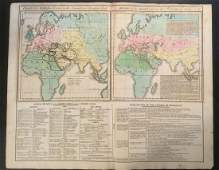 1820. Chart of the world as known to the Ancients,