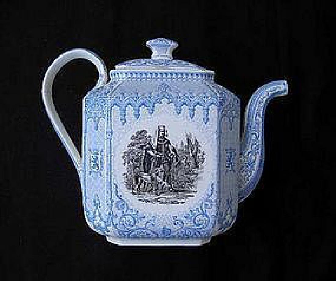 Belgian transfer printed tea or coffee pot