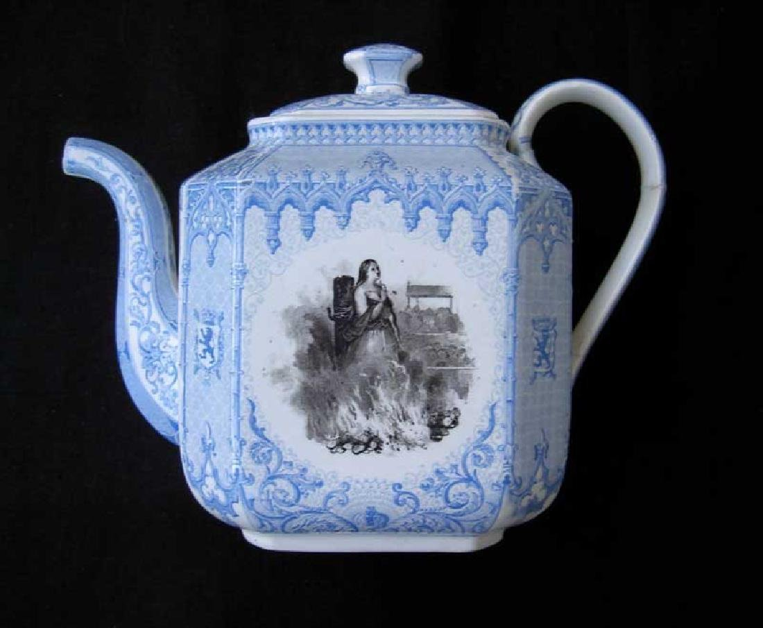 Belgian transfer printed tea or coffee pot - 3