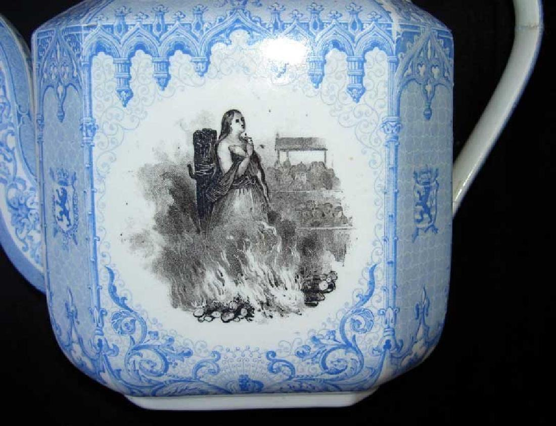 Belgian transfer printed tea or coffee pot - 4