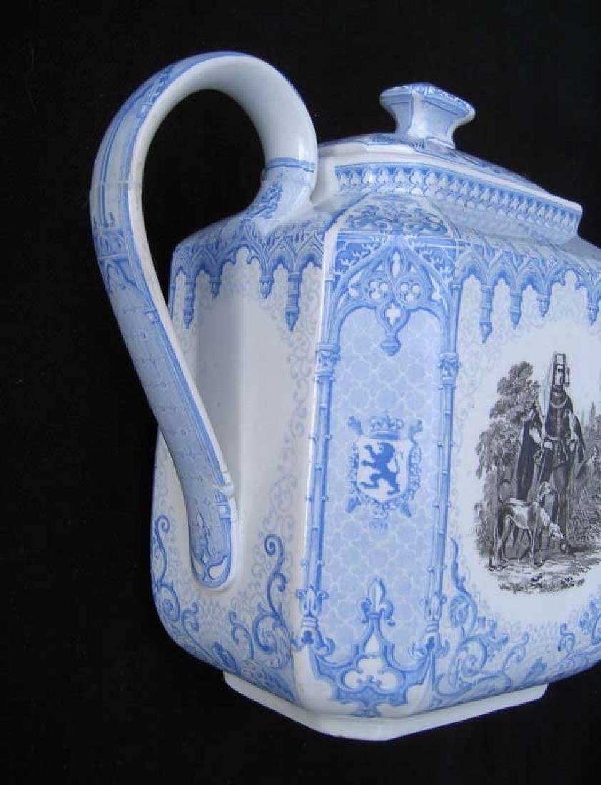 Belgian transfer printed tea or coffee pot - 6