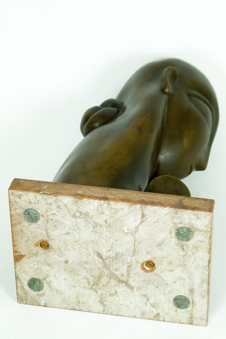 Bronze sculpture female bust after Constantin Brancusi - 2