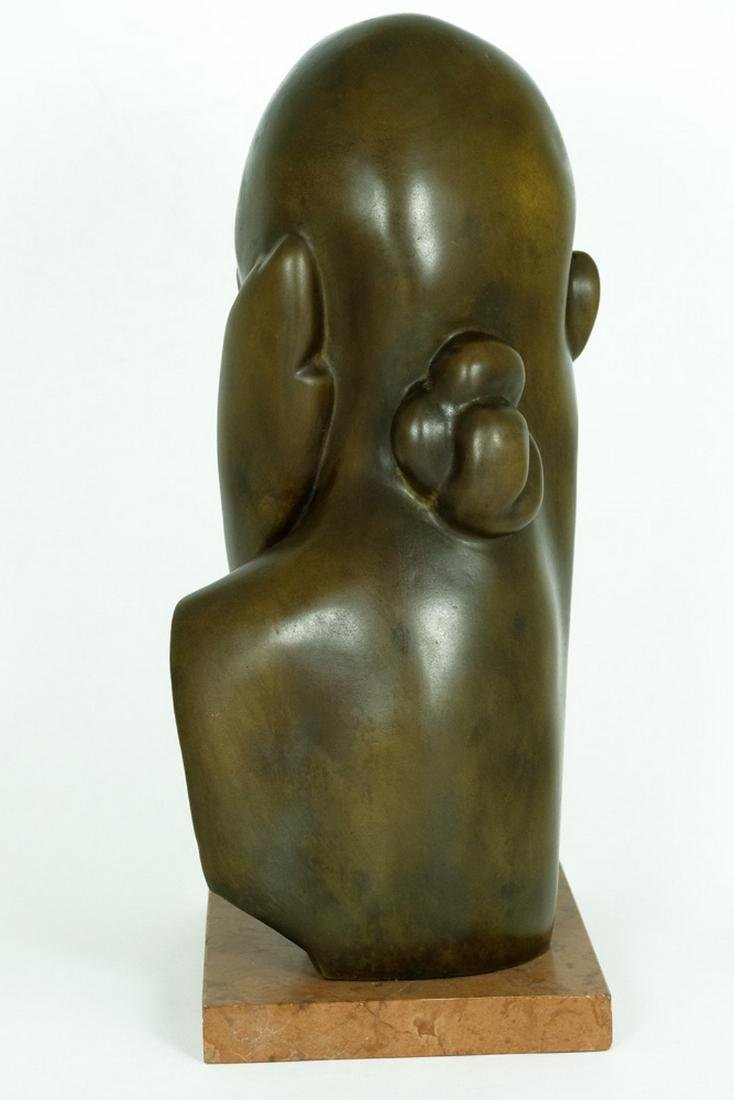 Bronze sculpture female bust after Constantin Brancusi - 3