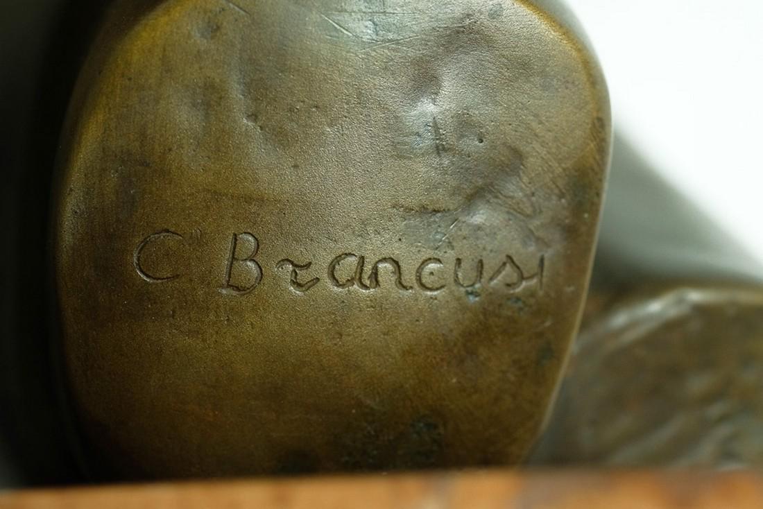Bronze sculpture female bust after Constantin Brancusi - 5