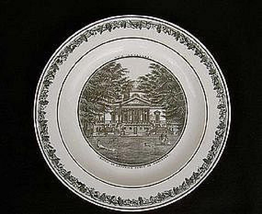 French Creil transfer printed plate, c.1820-30