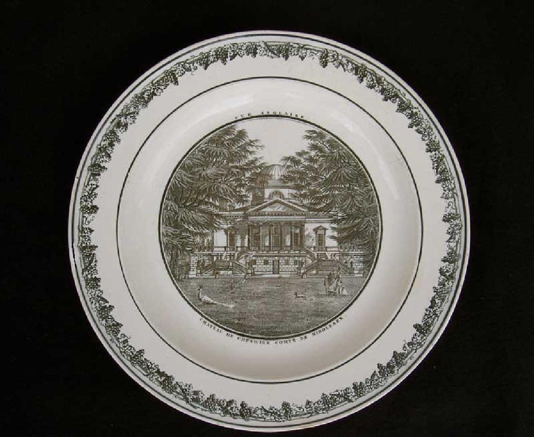 French Creil transfer printed plate, c.1820-30 - 2