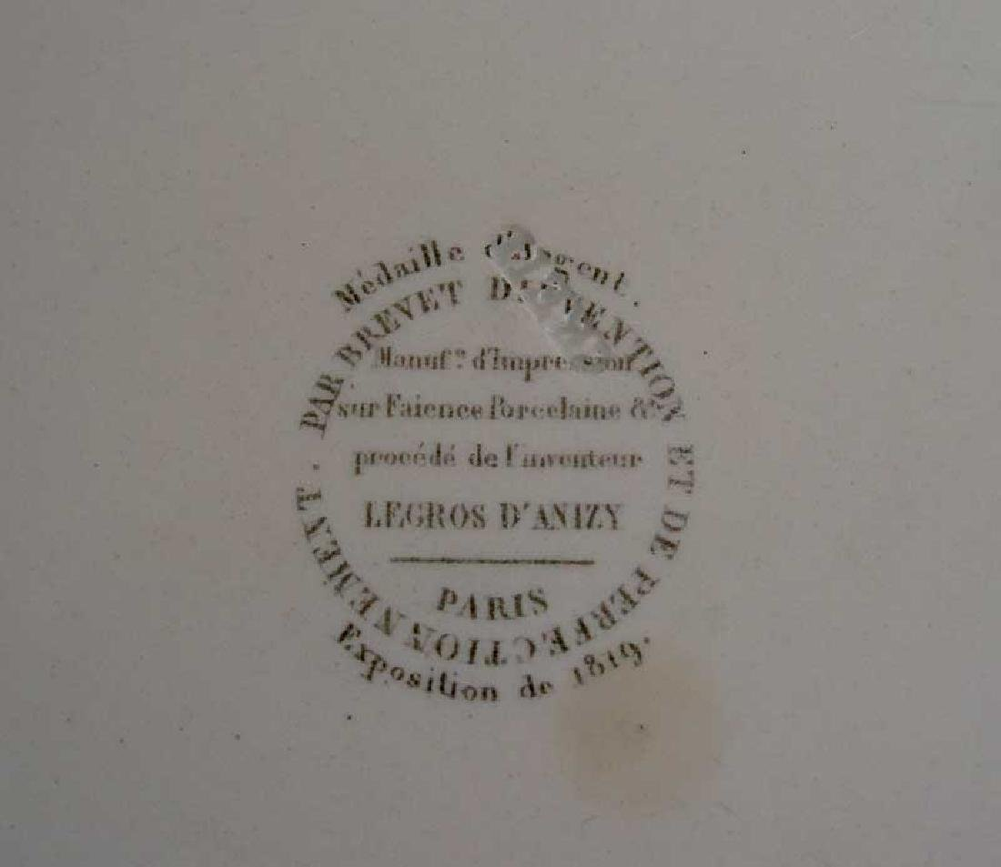 French Creil transfer printed plate, c.1820-30 - 4