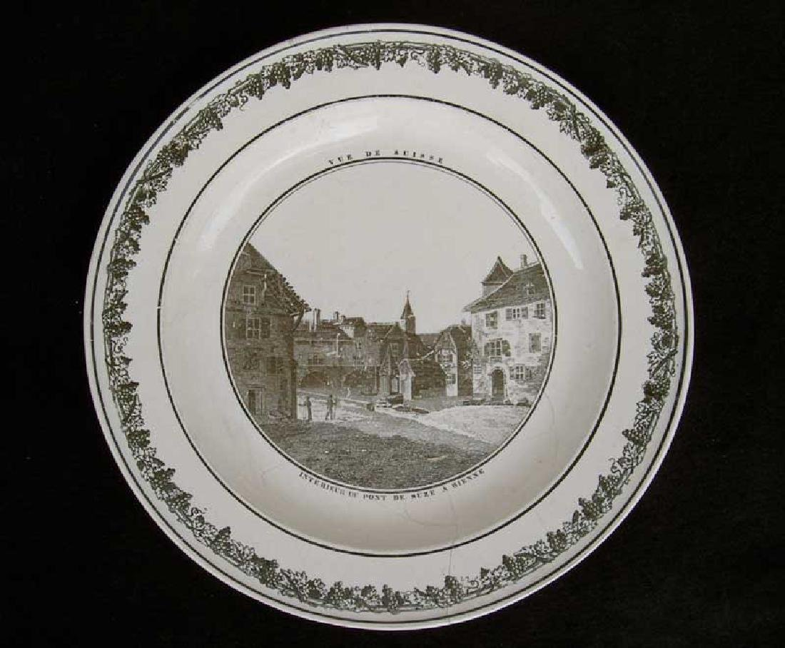 French Creil transfer printed plate, c.1820-30 - 6