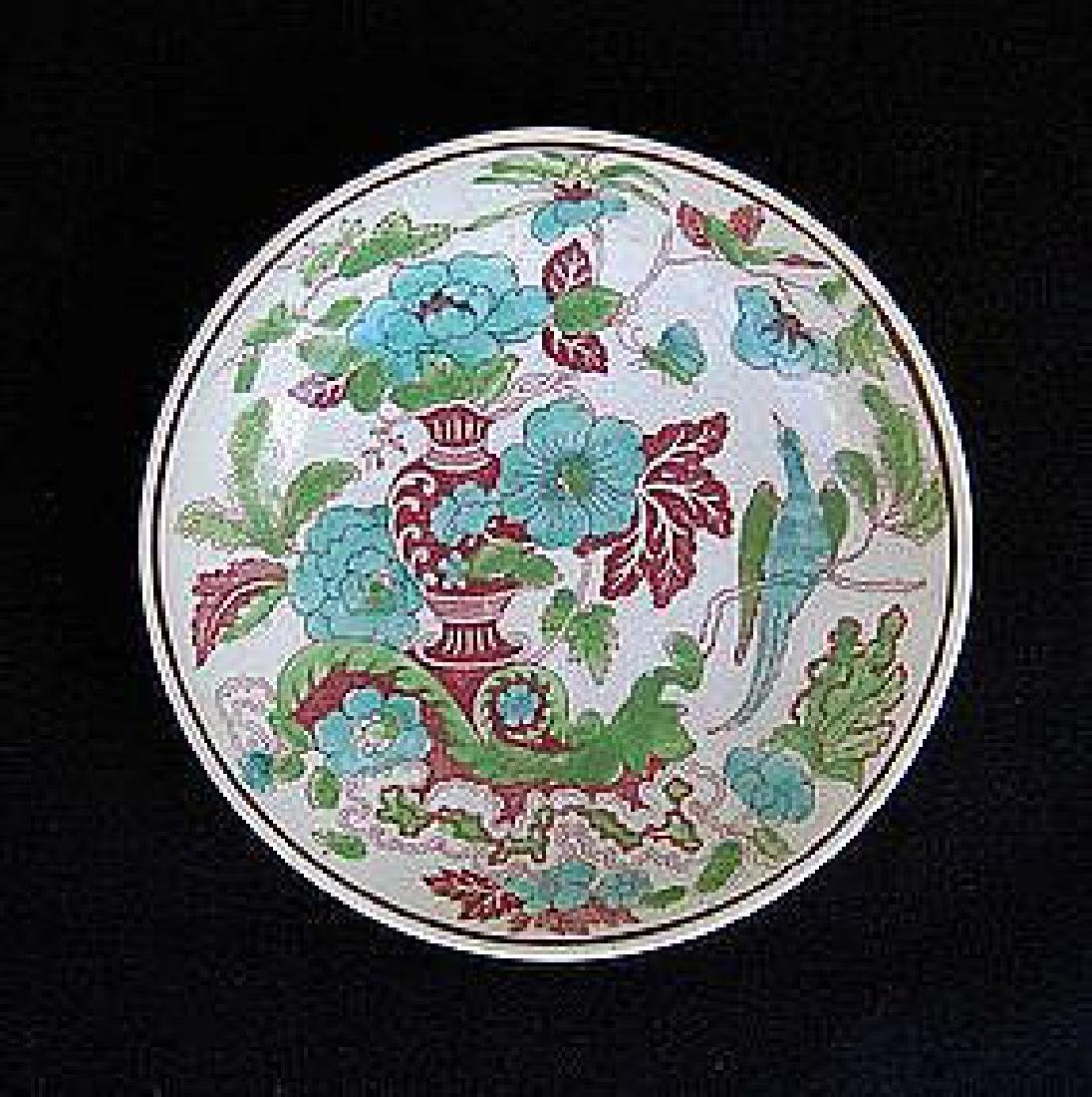 Transfer printed & painted saucer bowl by W S Smith,