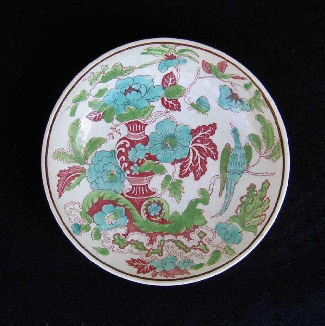 Transfer printed & painted saucer bowl by W S Smith, - 2