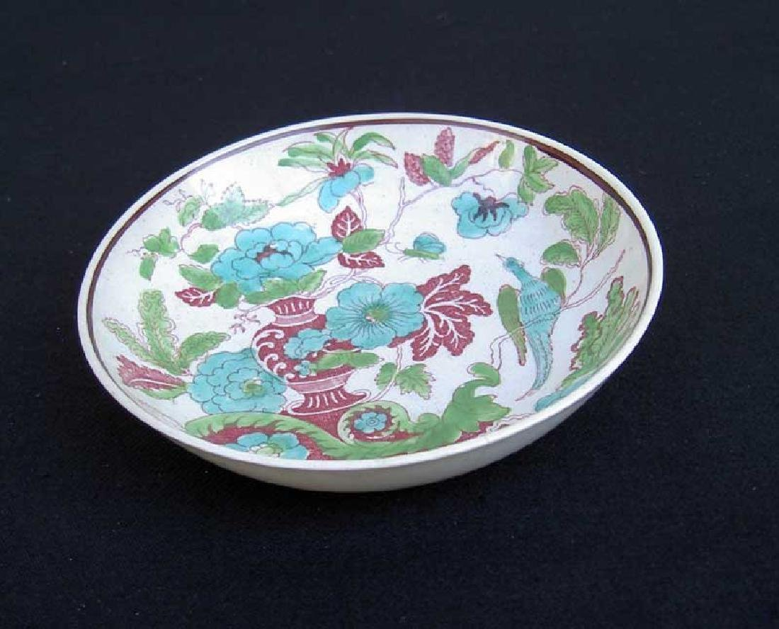 Transfer printed & painted saucer bowl by W S Smith, - 3