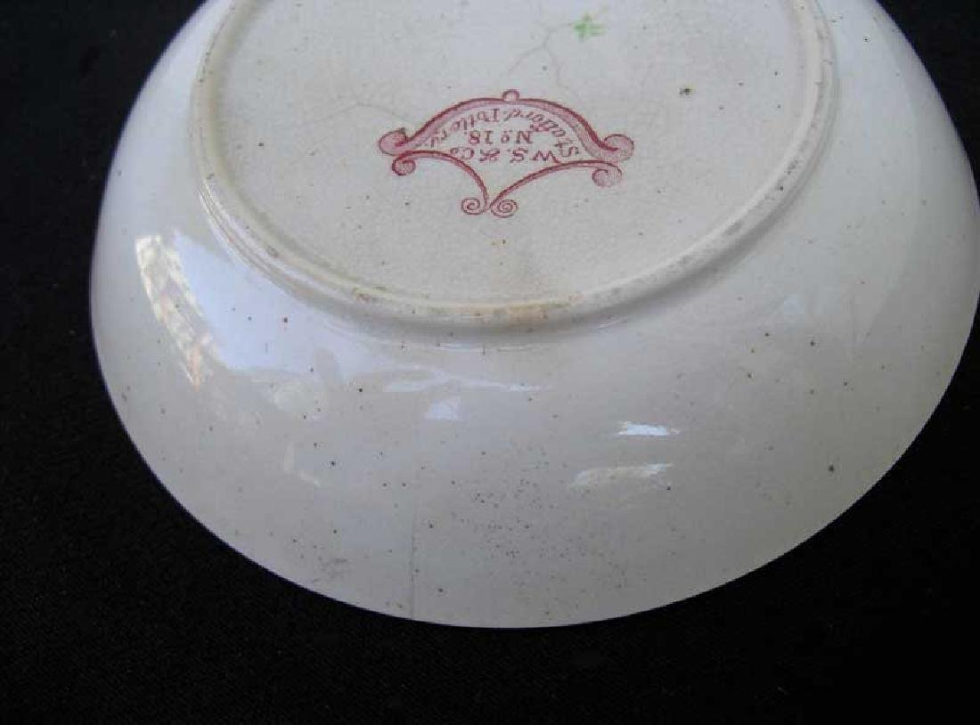 Transfer printed & painted saucer bowl by W S Smith, - 4