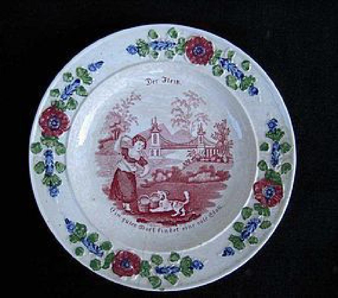 Child's plates with proverbs, Georgian