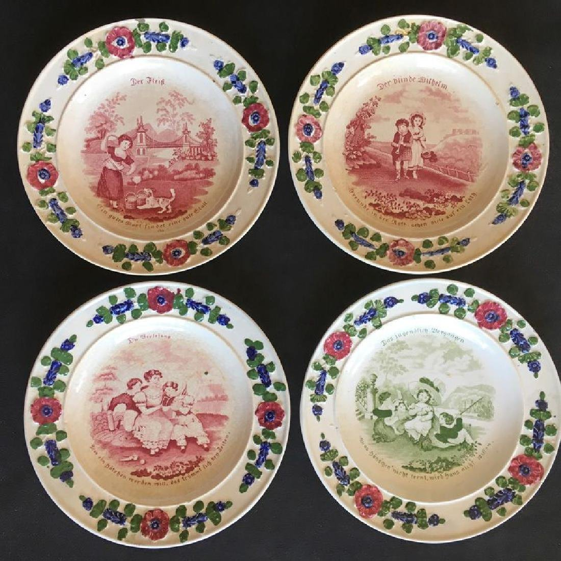 Child's plates with proverbs, Georgian - 2