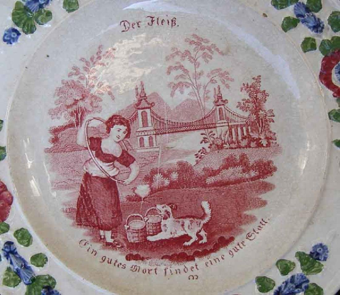 Child's plates with proverbs, Georgian - 3
