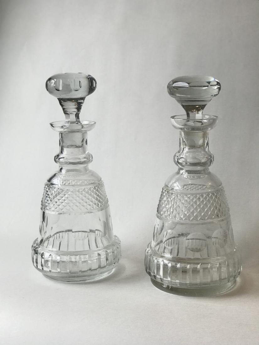Pair crystal decanters