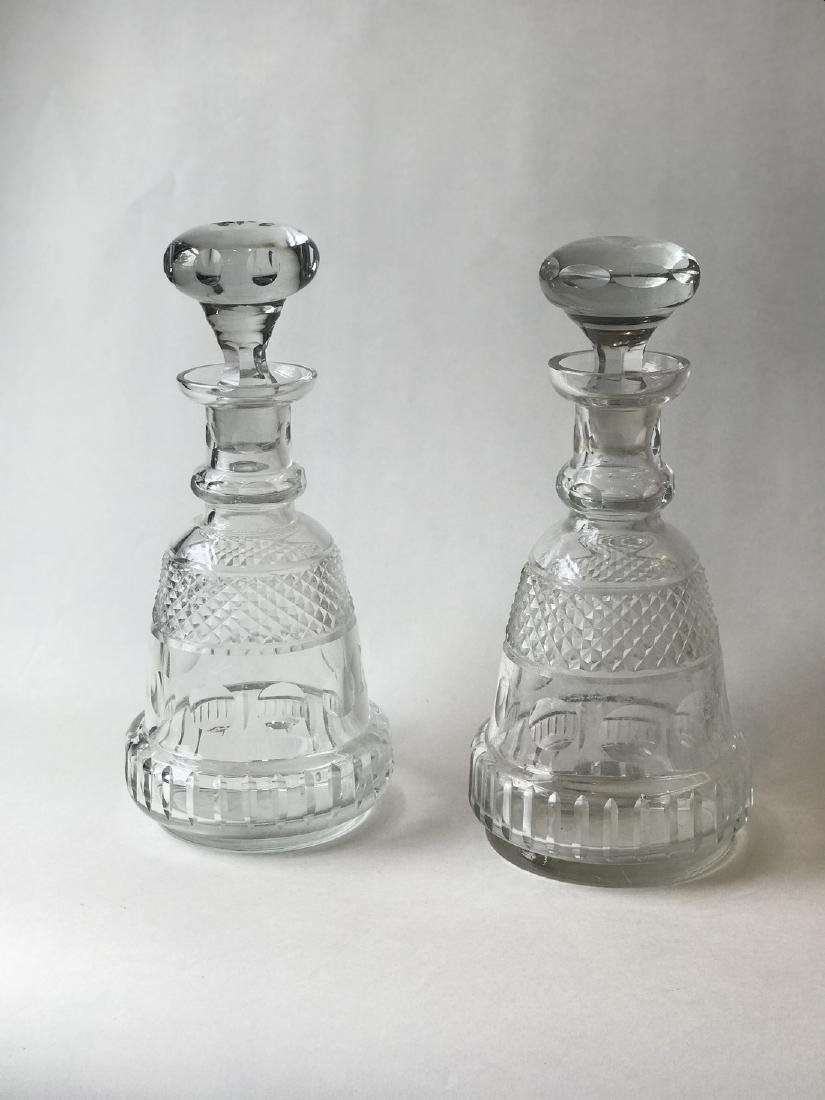 Pair crystal decanters - 3