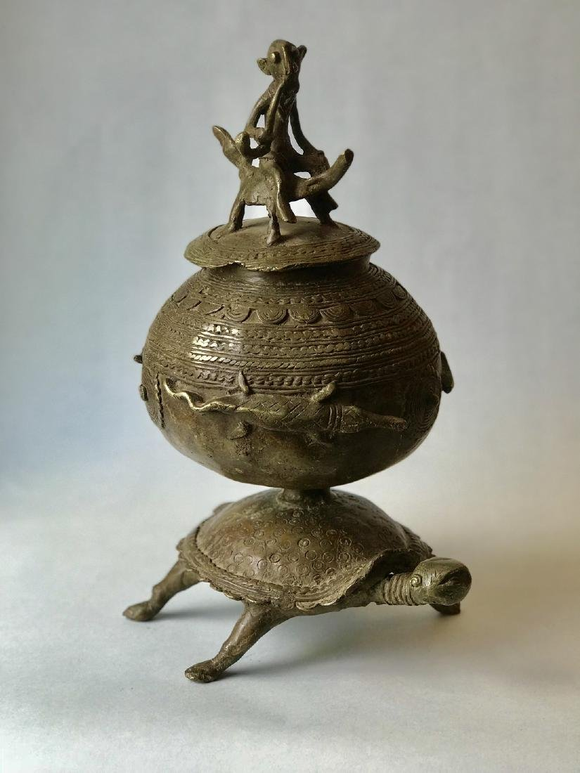 African bronze apothecary