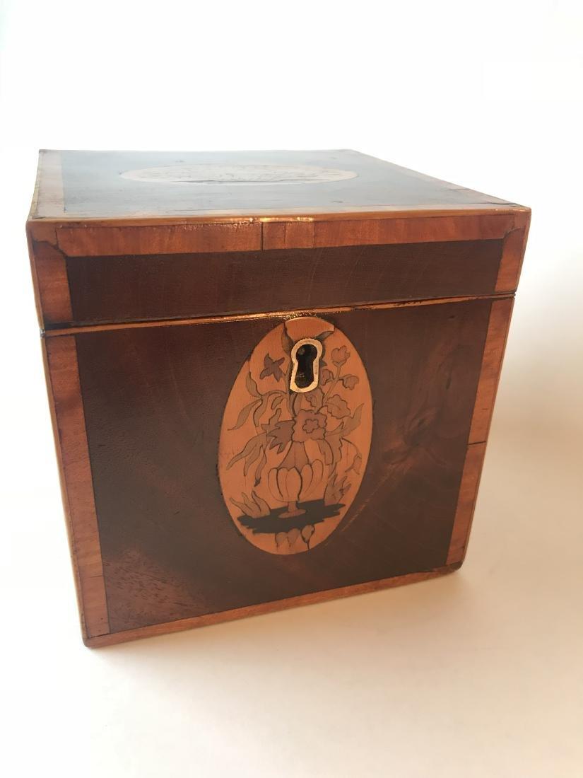 Inlaid Mahogany Tea Caddy