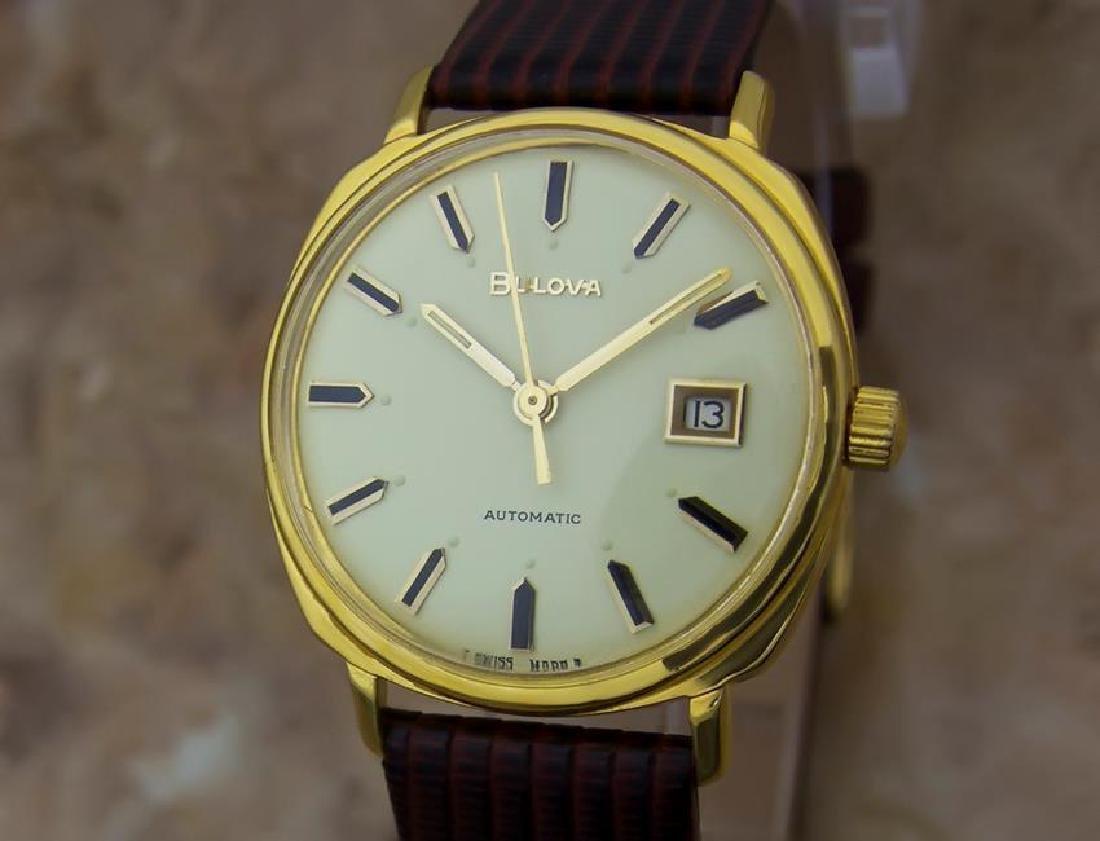 Bulova M8 1960s Swiss Made Mens Vintage Automatic Gold