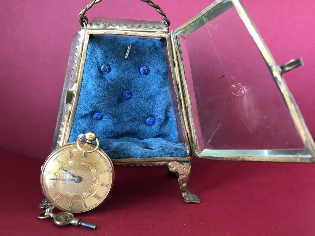 Gold pocket watch