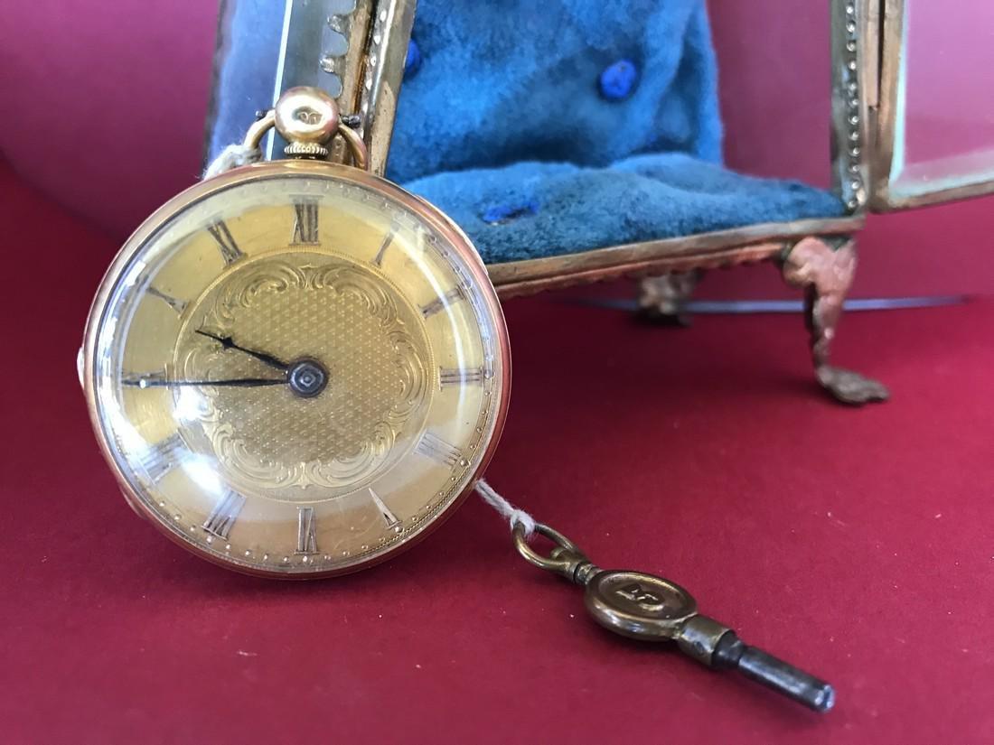Gold pocket watch - 4