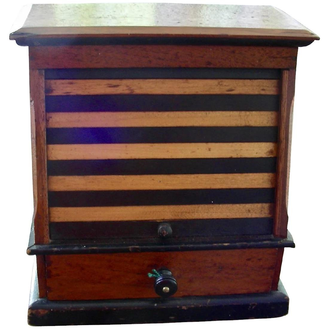 Variegated Tambour Front Sewing Box