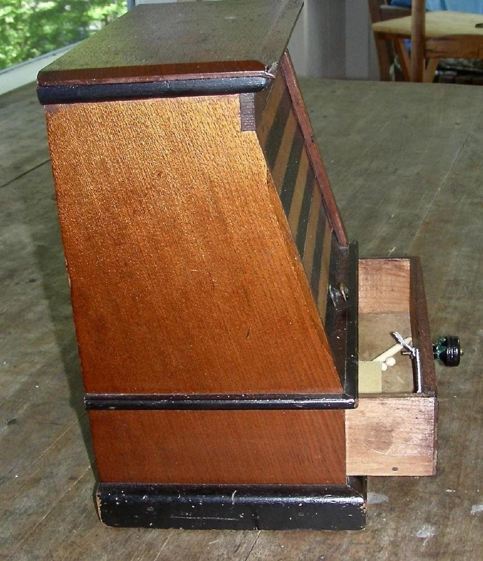 Variegated Tambour Front Sewing Box - 3