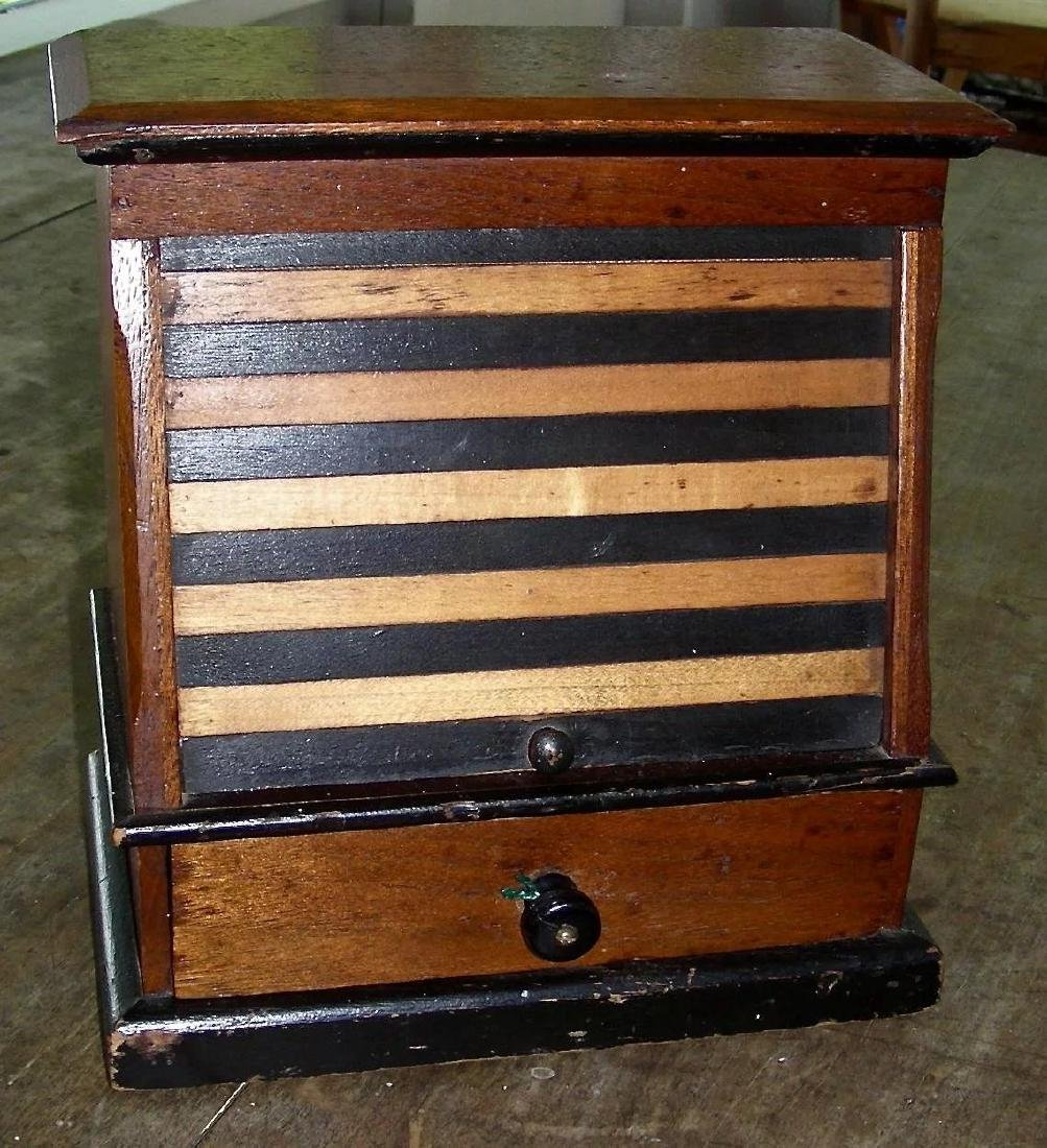 Variegated Tambour Front Sewing Box - 6