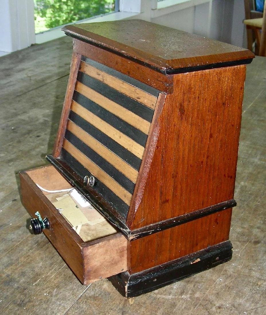Variegated Tambour Front Sewing Box - 7