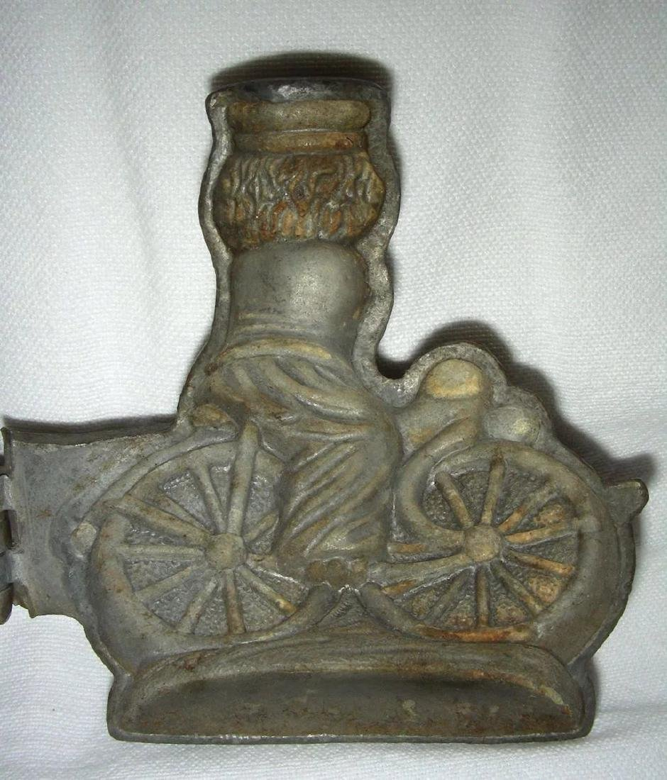 Early 20th Century Pewter Ice Cream Mold: Bicycle - 6
