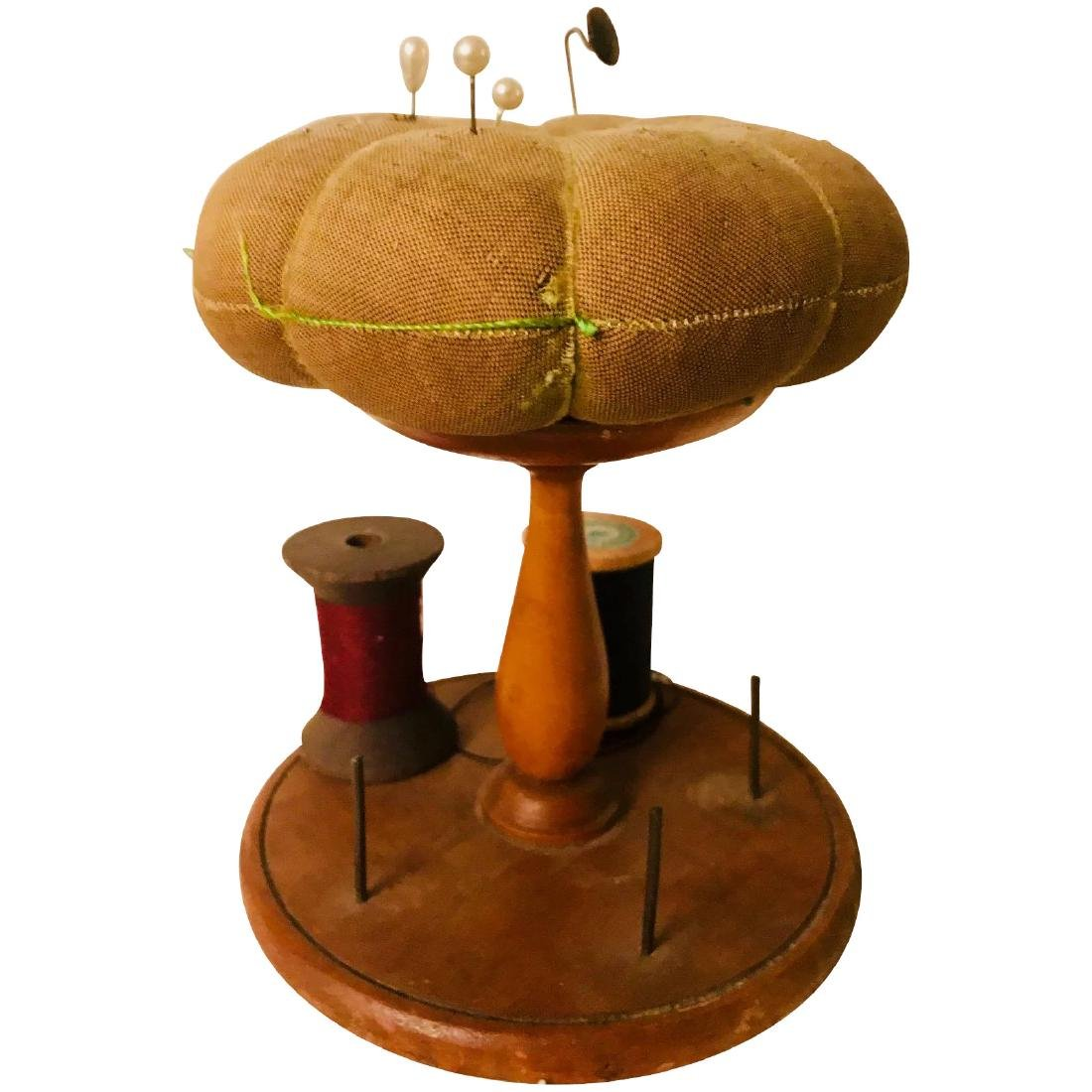 Shaker Spool Stand & Pincushion, c. 1900