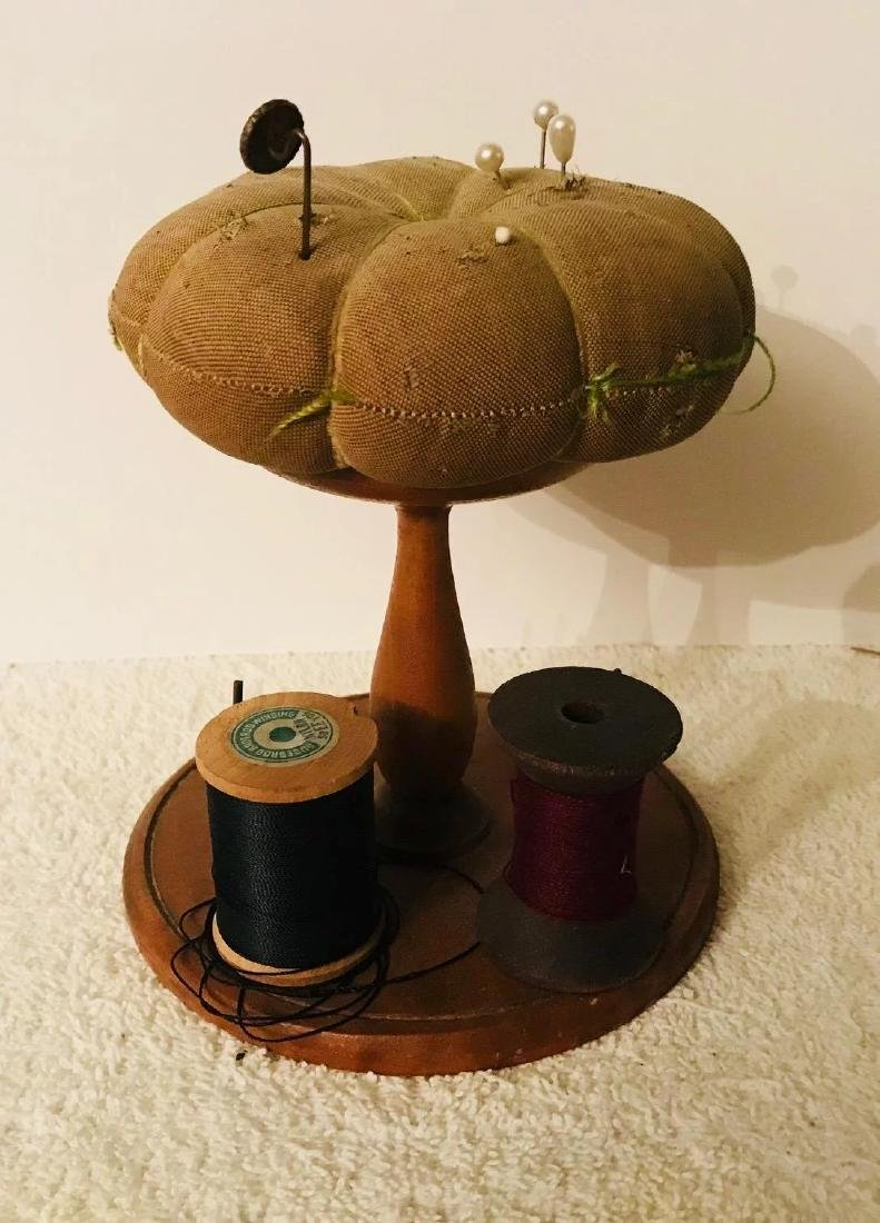 Shaker Spool Stand & Pincushion, c. 1900 - 3