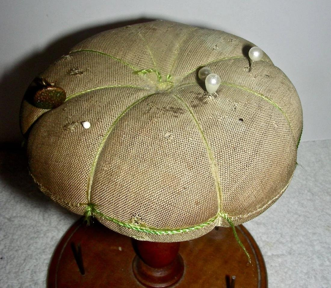 Shaker Spool Stand & Pincushion, c. 1900 - 5