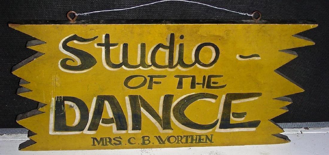 Studio of the Dance Sign in Original Paint, c. 1950s - 2