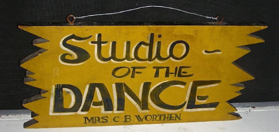 Studio of the Dance Sign in Original Paint, c. 1950s - 3