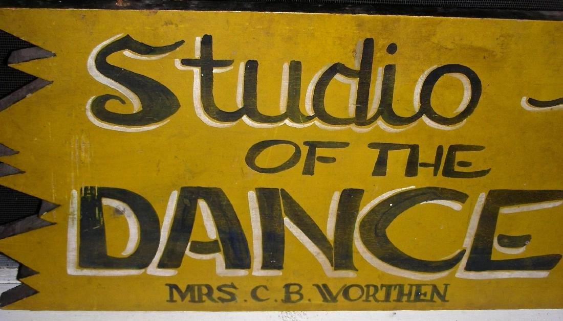 Studio of the Dance Sign in Original Paint, c. 1950s - 4