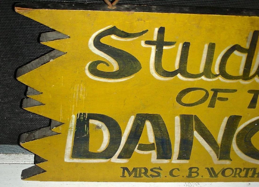 Studio of the Dance Sign in Original Paint, c. 1950s - 5