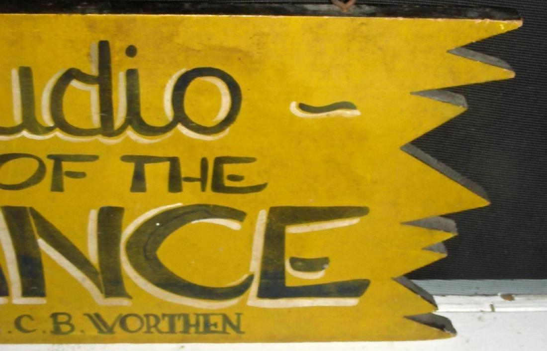 Studio of the Dance Sign in Original Paint, c. 1950s - 6