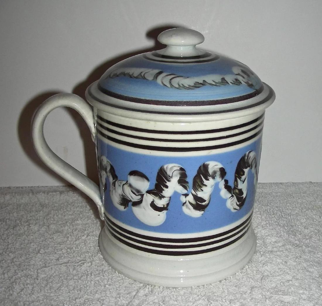 Rare Earthworm Decorated Mocha Ware Porter Mug - 3