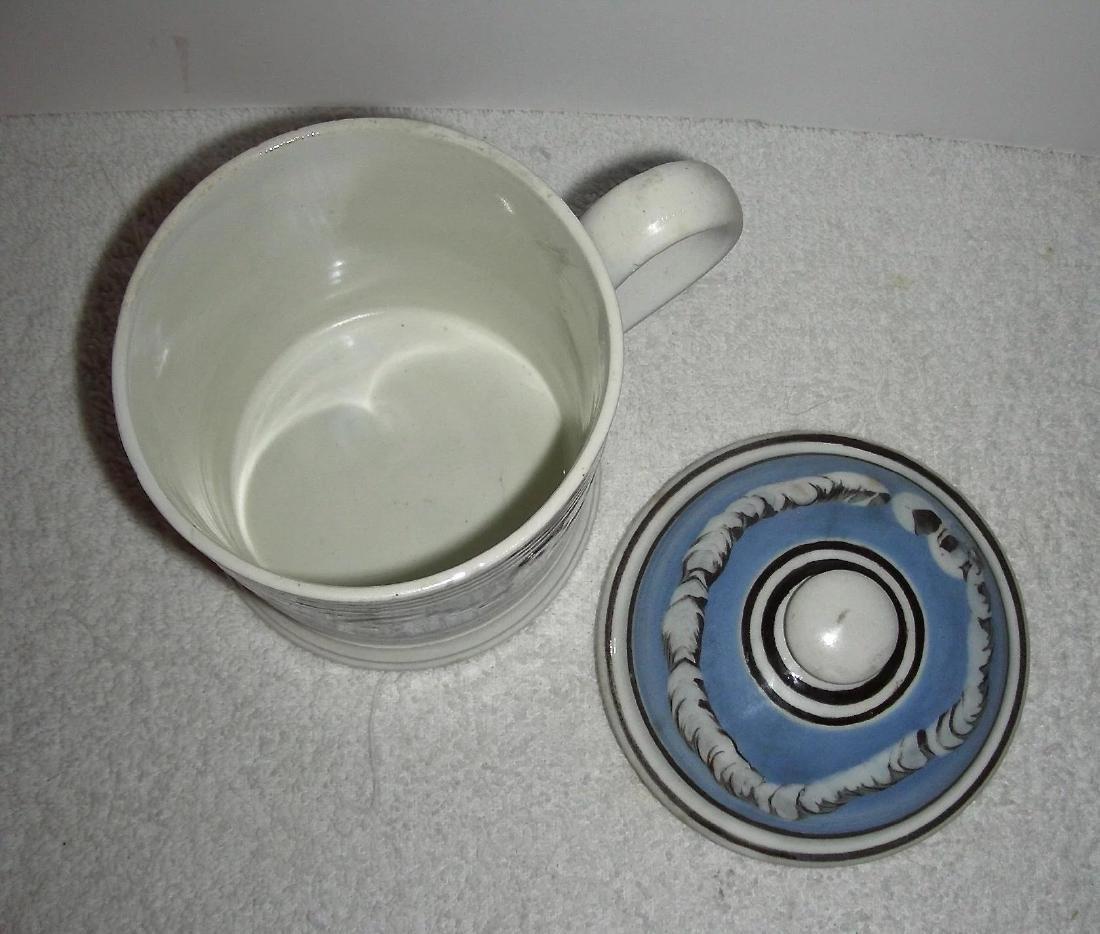 Rare Earthworm Decorated Mocha Ware Porter Mug - 7
