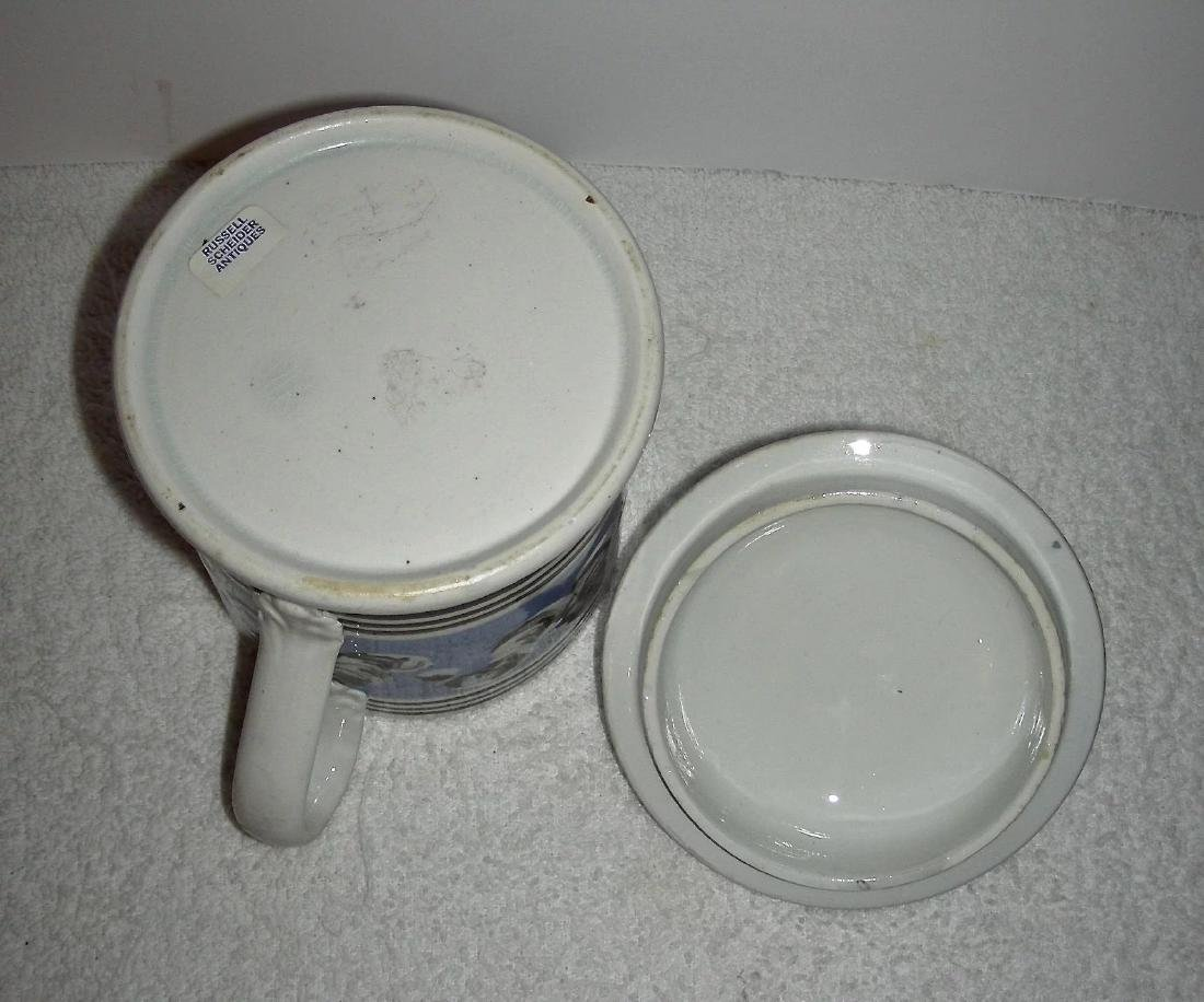 Rare Earthworm Decorated Mocha Ware Porter Mug - 8