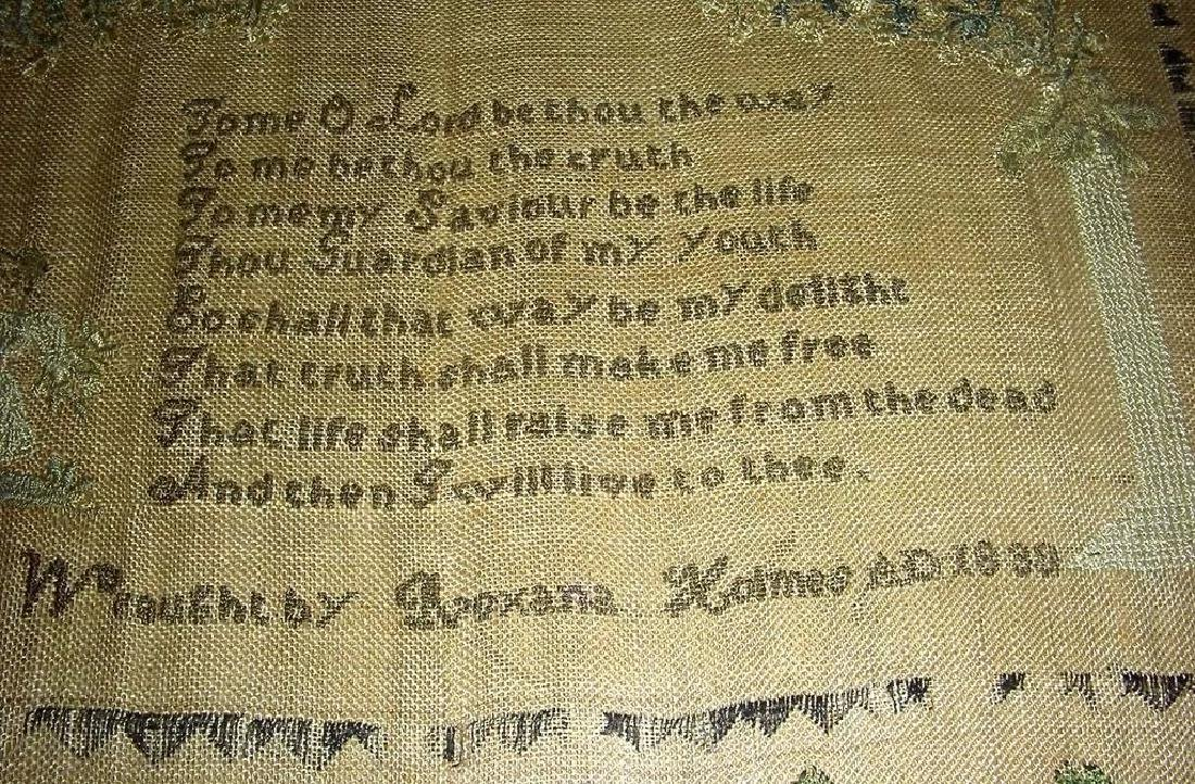 1830 American Needlework Sampler by Roxana Holmes - 2