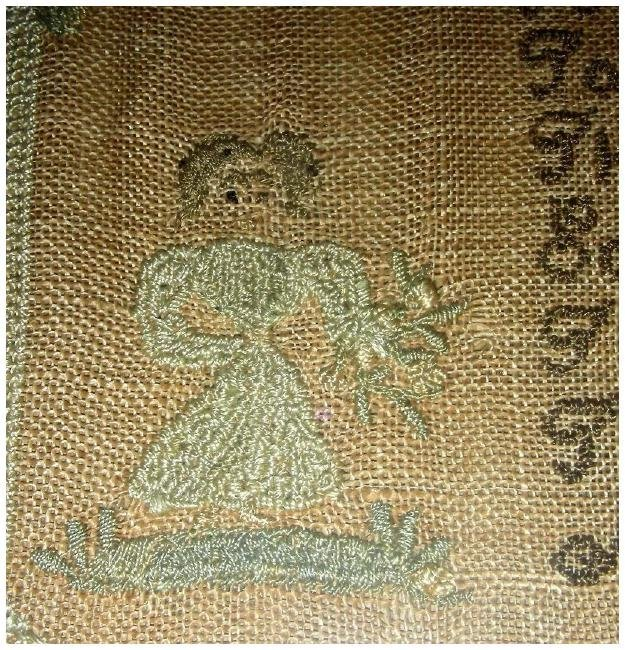 1830 American Needlework Sampler by Roxana Holmes - 3