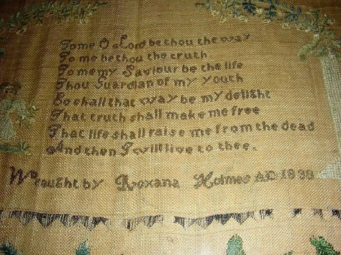 1830 American Needlework Sampler by Roxana Holmes - 4