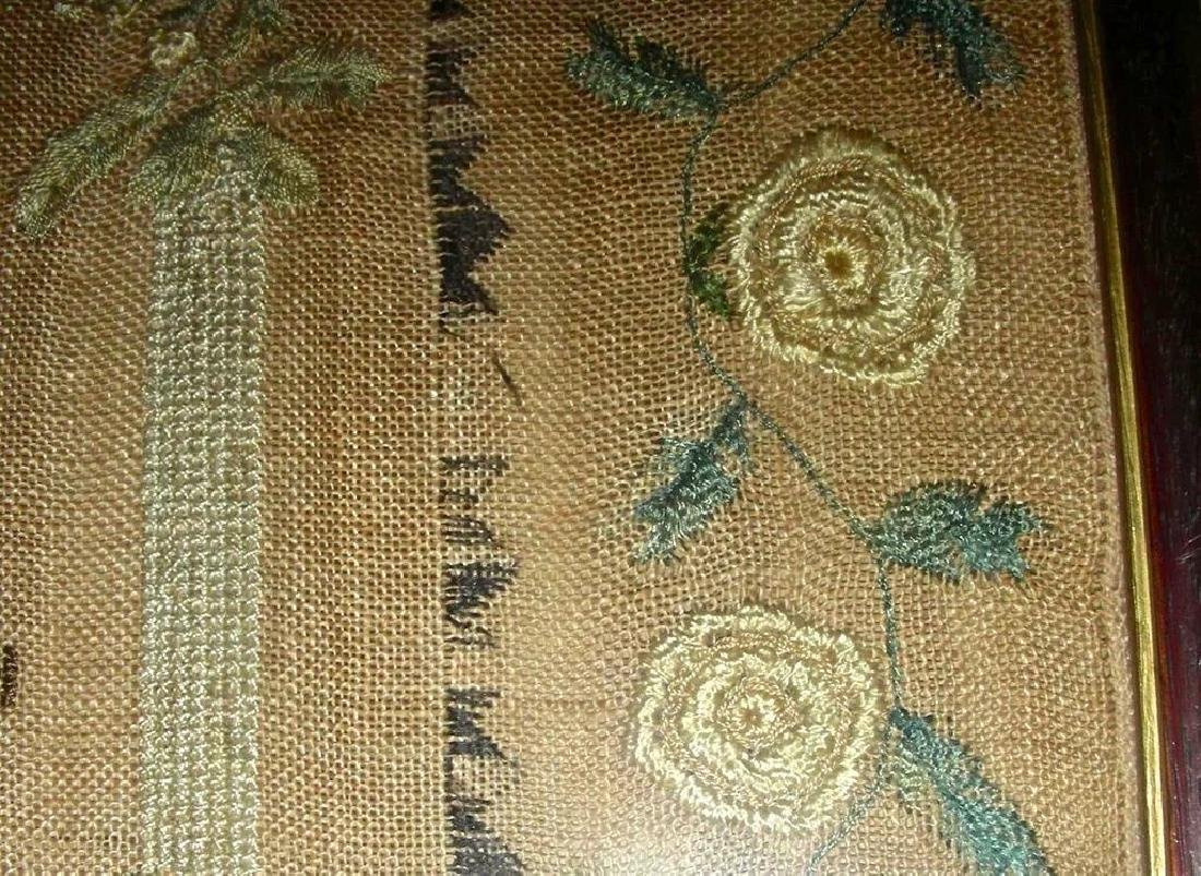 1830 American Needlework Sampler by Roxana Holmes - 5